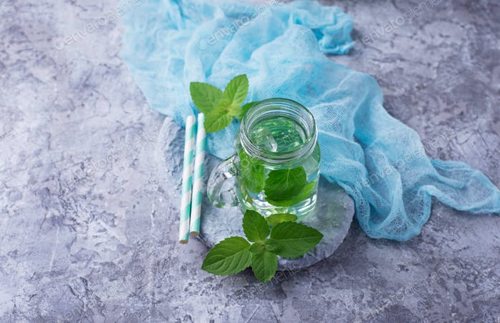 Summer fresh mint drink