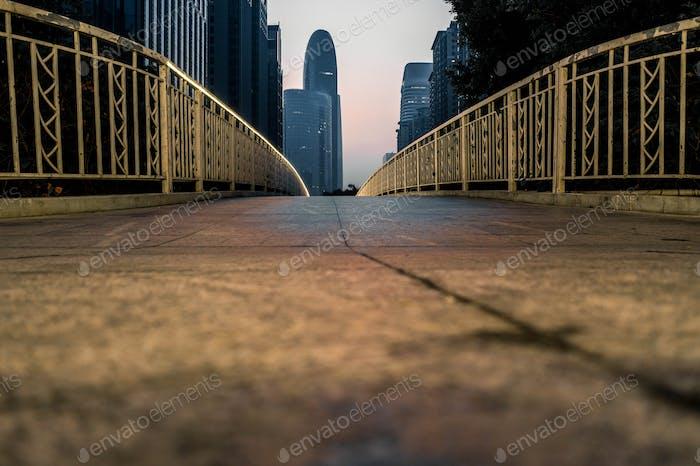 Footbridges and pedestrians