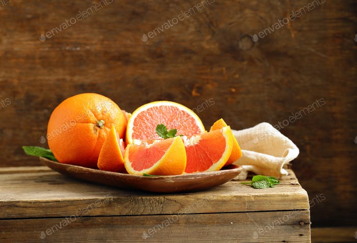 Reife Bio Rot-Orange