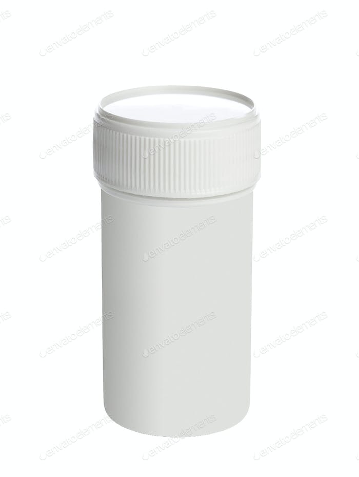 White medical container isolated