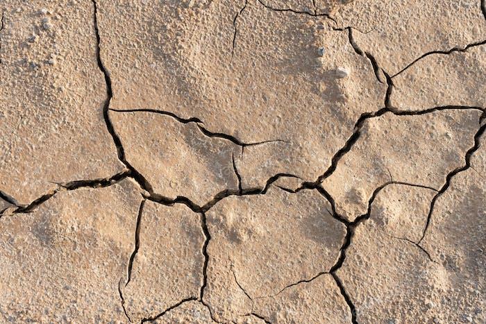 Dry cracked ground background texture