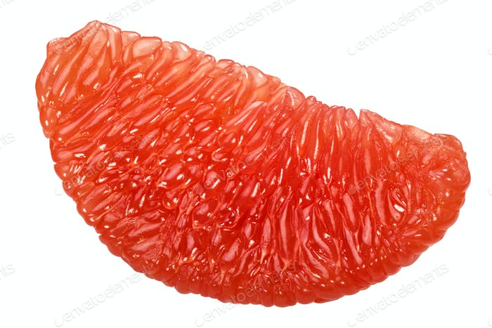 Grapefruit fleshy pulp lobe, paths