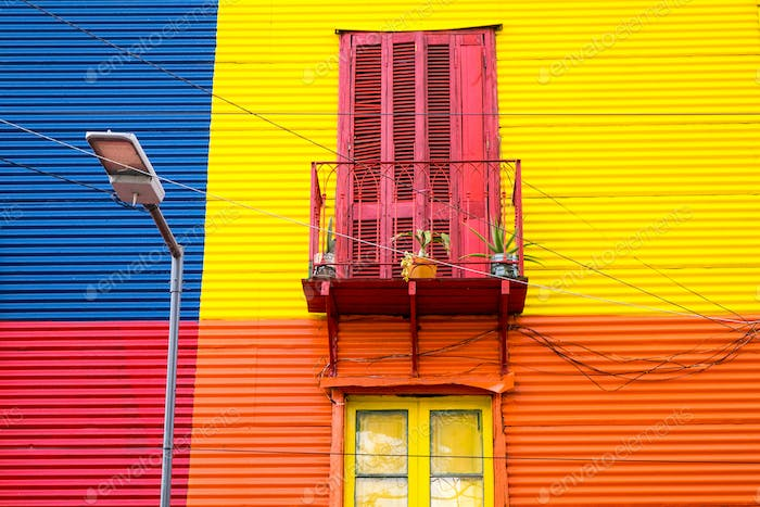 Colorful house in La Boca, Argentina