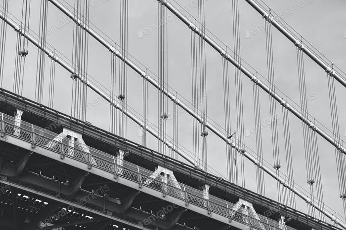 Imagen de cerca del Puente de Manhattan, Novedad York.