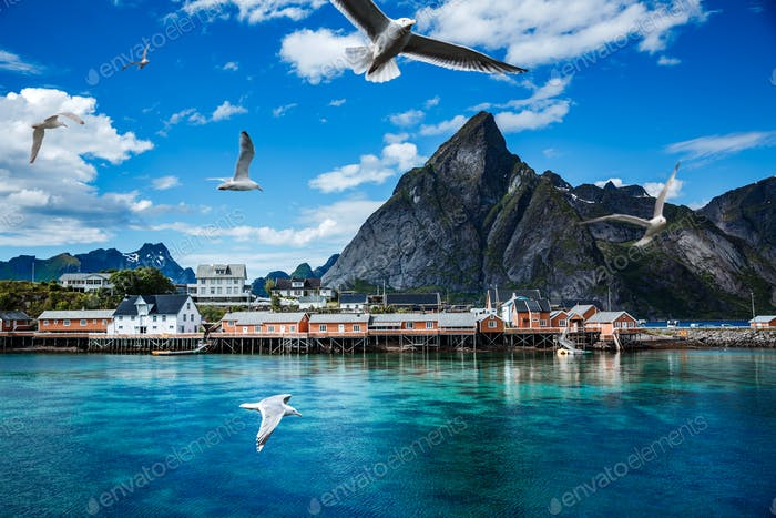 Lofoten archipelago islands islands Norway