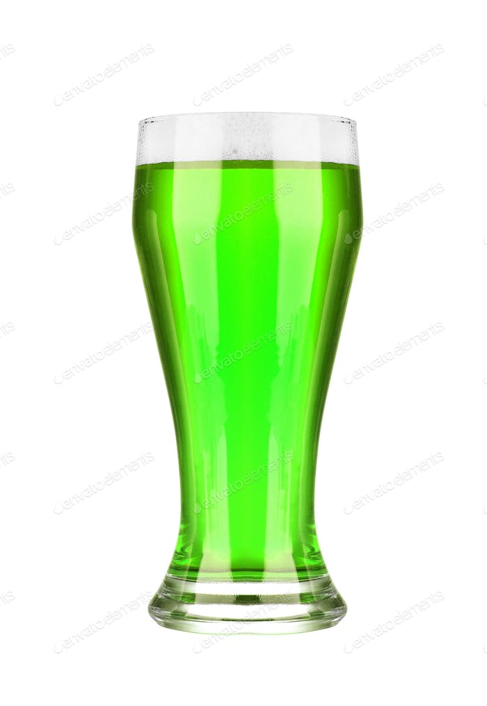 green beer isolated