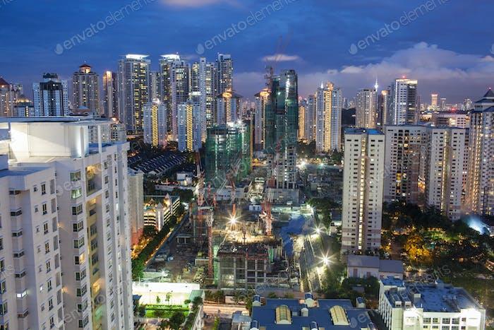 Construction works in Kuala Lumpur, Malaysia