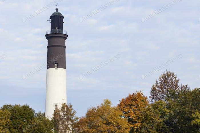 Tallinn Upper Lighthouse in autumn scenery