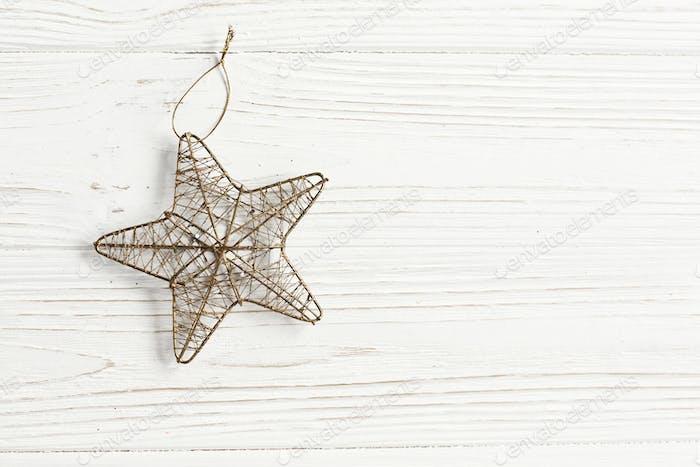 Weihnachten goldener Stern