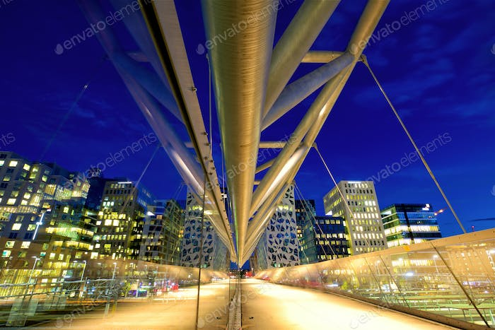 Pedestrian bridge in Oslo