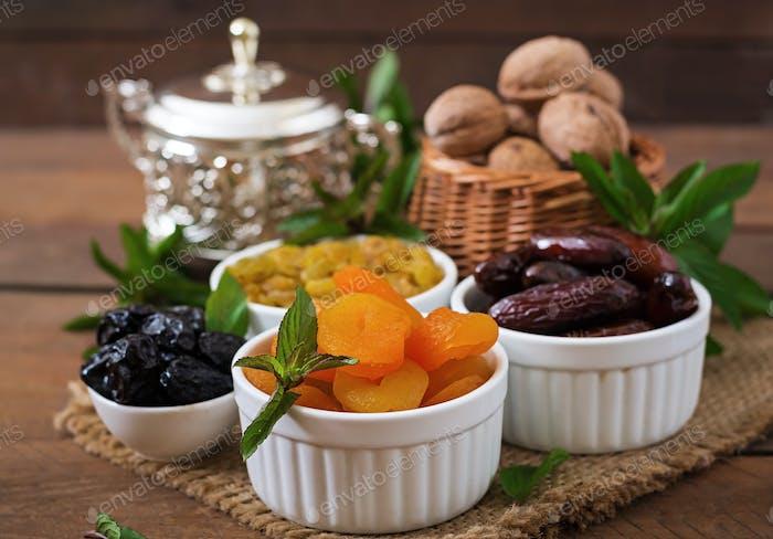 Mix dried fruits  and nuts. Ramadan (Ramazan) food.