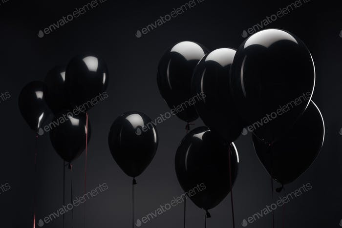 background with festive balloons for black friday