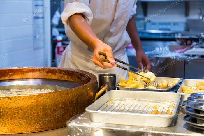 Kochen von Tempura