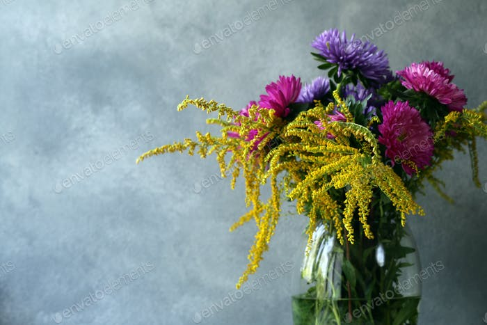 Autumn Flowers Composition
