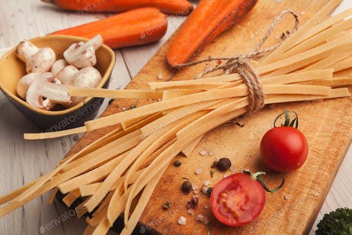 Kochen handgemachte Pasta Hintergrund
