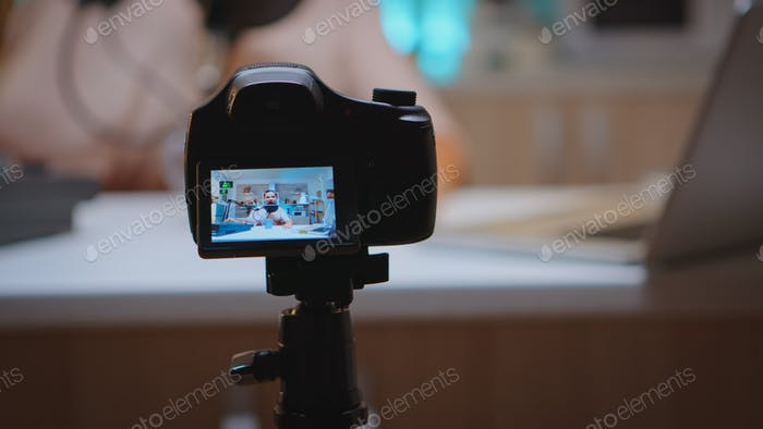 Doing vlog production