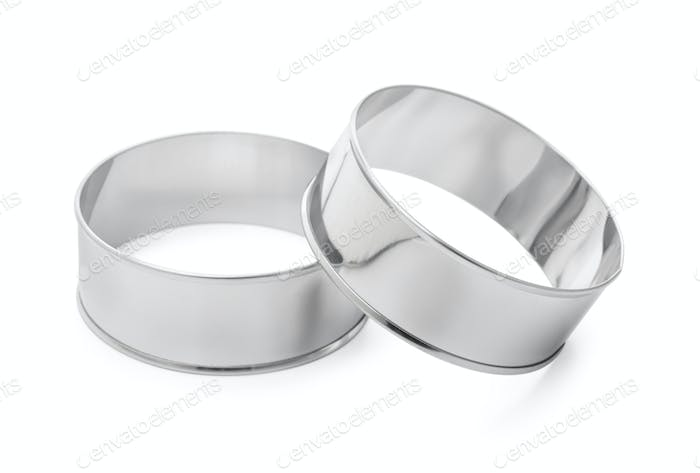 Stainless steel round cooking molds