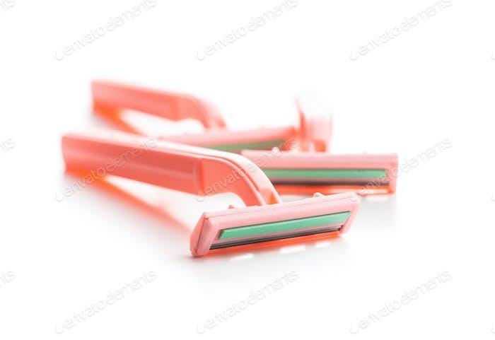 Pink lady shaver. Women razor.