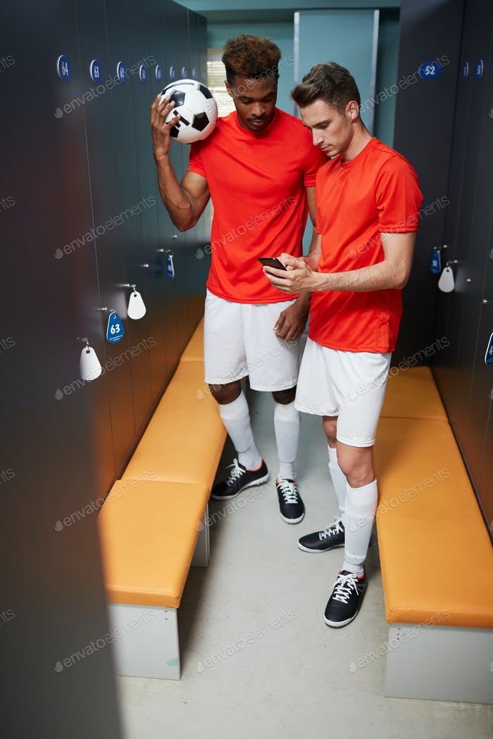 Players in changing-room