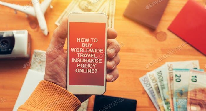 Worldwide travel insurance policy online mobile app