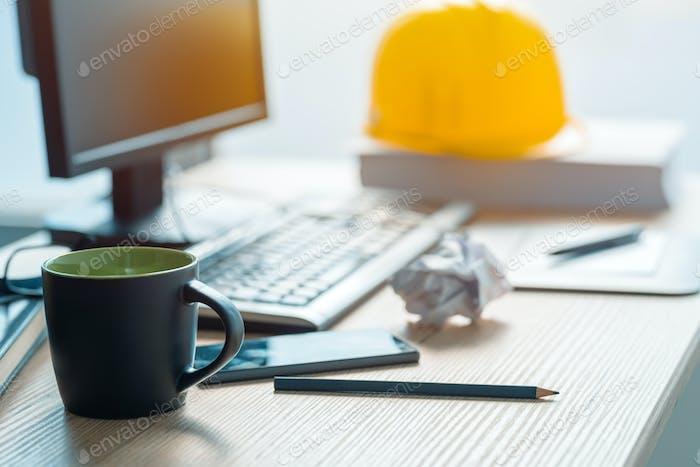 Coffee break in architecrure and interior design studio