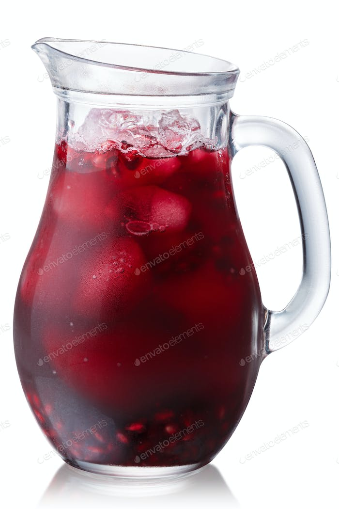 Iced pomegranate drink jug, paths