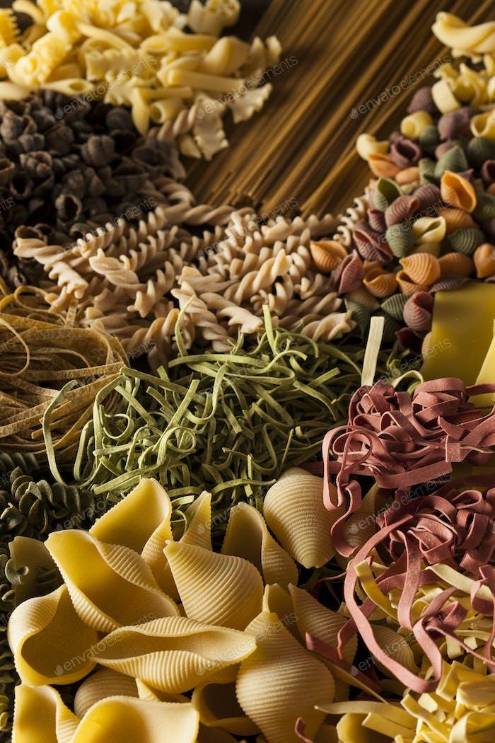 Assorted Homemade Dry Italian Pasta
