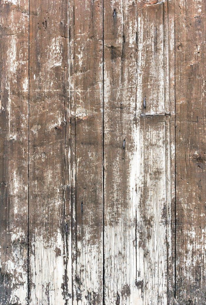 Alte Holzplanken mit abblätternder Farbe