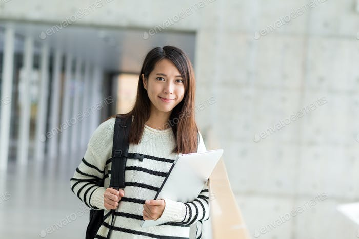 Young student in university
