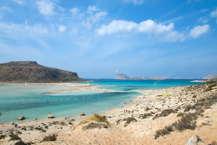 Balos Beach on Crete island