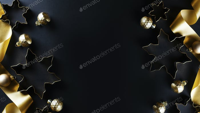 Christmas abstract golden background