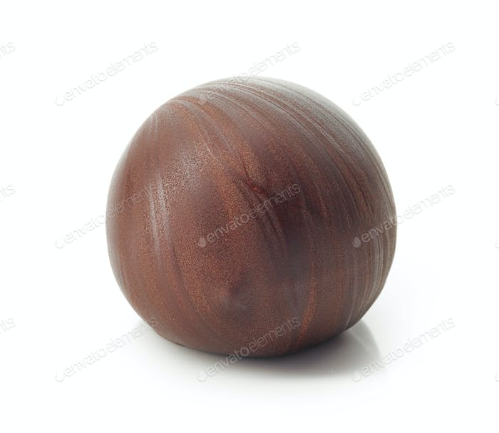 chocolate ball on a white background