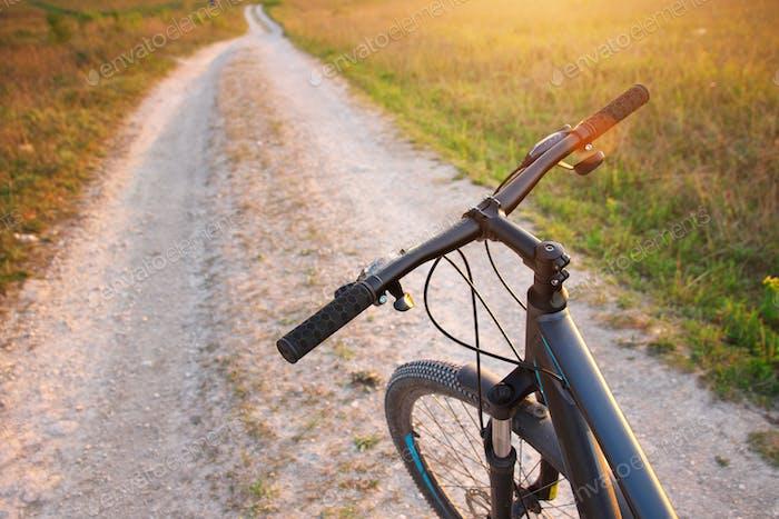 Bike on the mountain road.