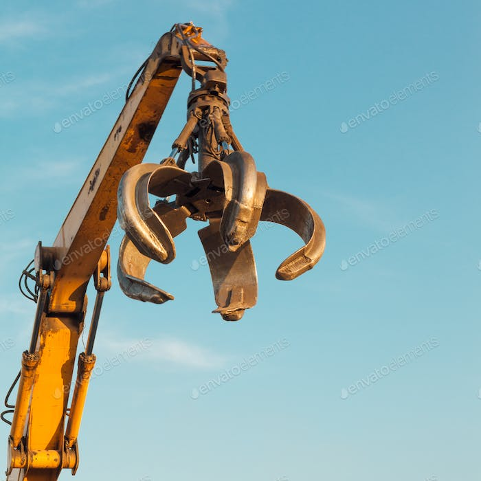 crane arm with open claw