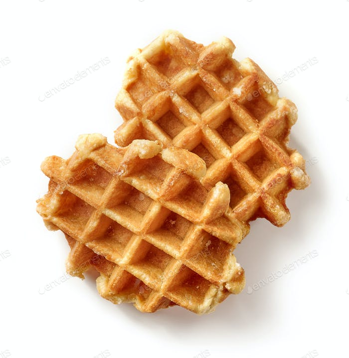 freshly baked belgian waffles