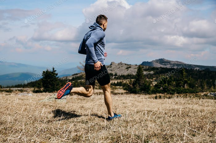 Mann Läufer laufen
