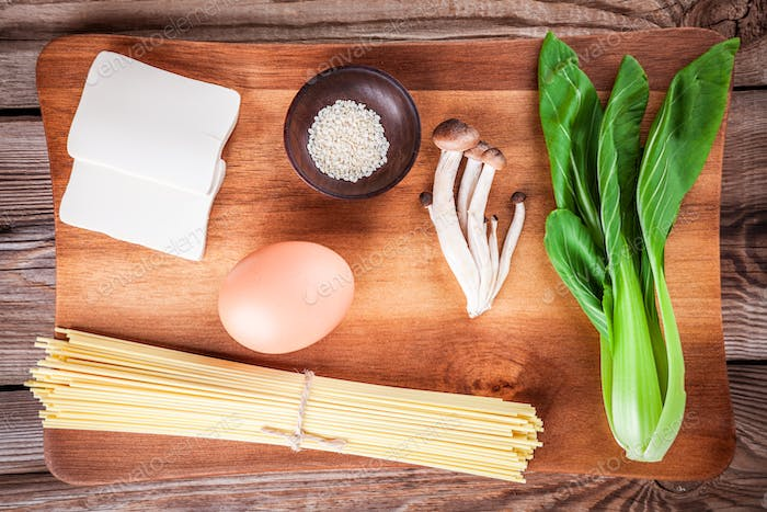 ingredients for ramen soup