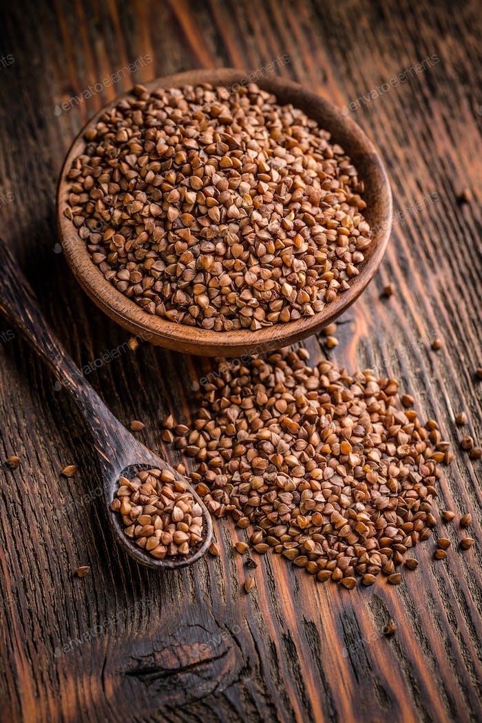 Organic buckwheat in a bowl