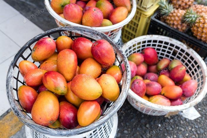 Store selling mango
