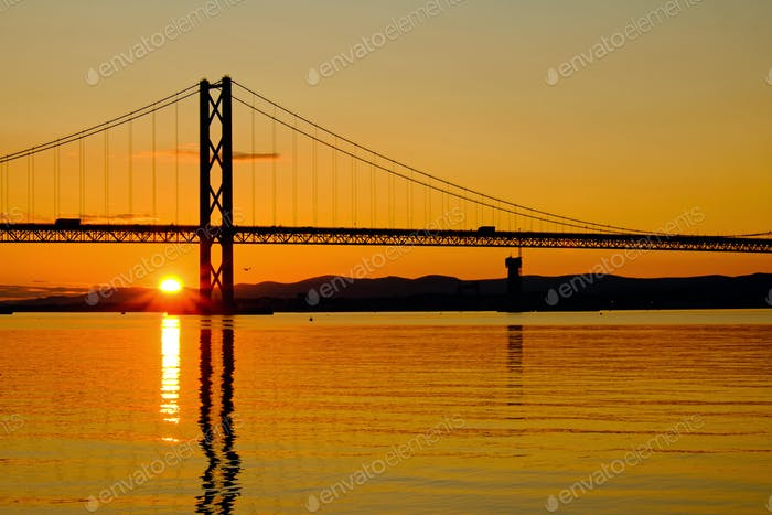 Sunset at the Firth of Forth