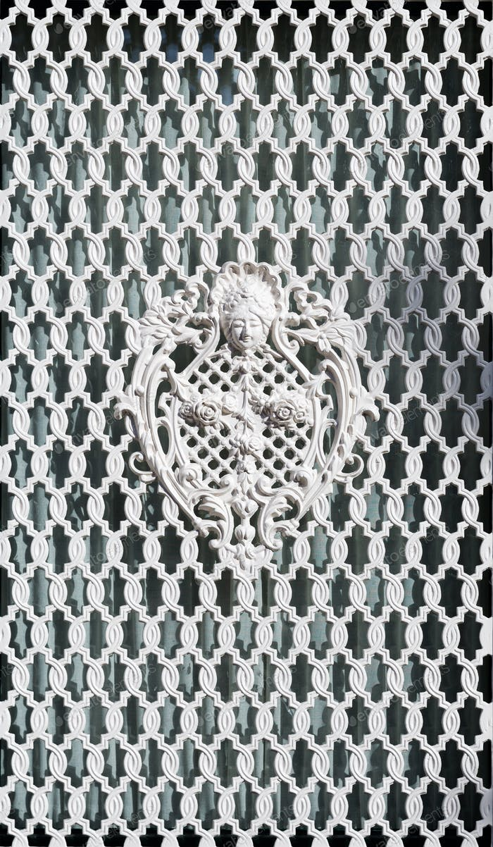 White ornamental grille.