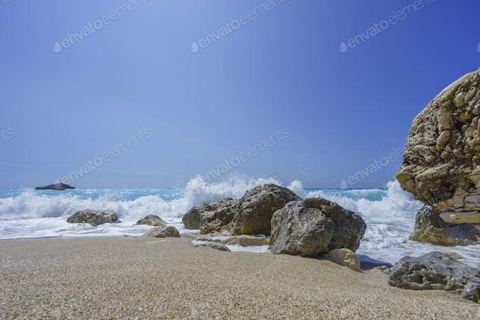 The Ionian sea in Lefkada Greece