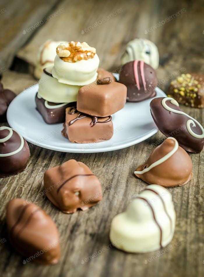 Luxury chocolate candies