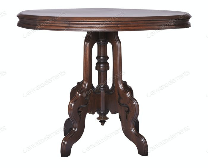 Elegant antique Victorian side table made of walnut