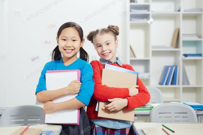 Friendly schoolgirls