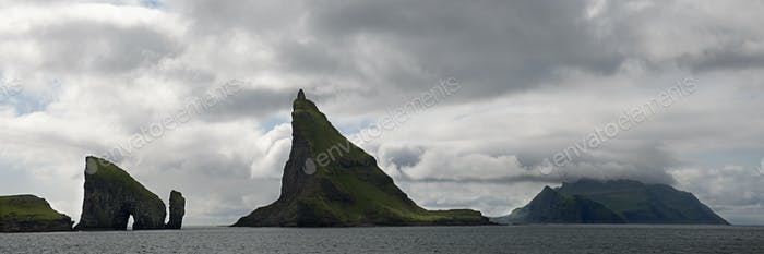 Scenic view of Faroe Islands