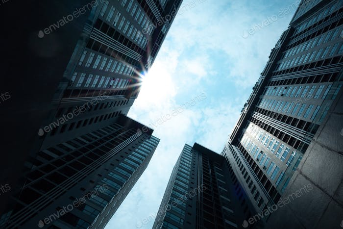 Hong Kong modern skyscraper building, Hong Kong cityscape