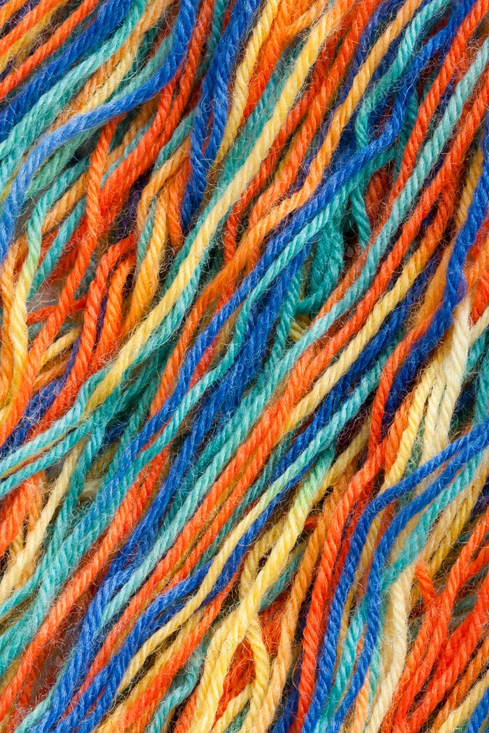 Close-up of colorful threads