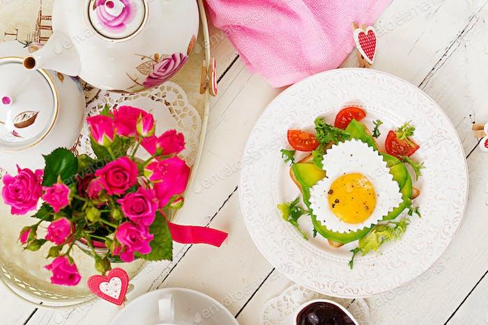 Breakfast on Valentine's Day