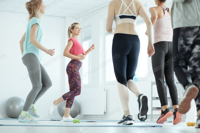 Aerobic classes for women